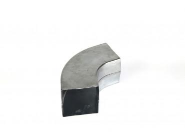 Bocht zink vierkant 80x80mm 72 graden
