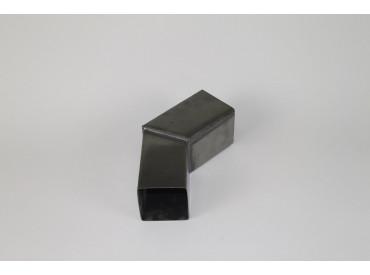 Bocht zink vierkant 80x80mm 45 graden