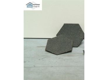 Plakzegel zeskant 110x 4 mm van rubber