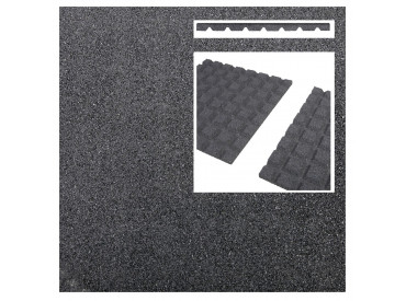Rubberen terrastegel grijs