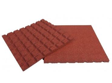 Rubberen terrastegel rood