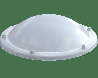 Ronde lichtkoepel acrylaat helder enkelwandig