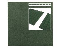 Rubberen terrastegel groen