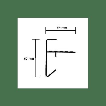 RAL 9010 Binnenhoek daktrim 60x64 mm (wit)