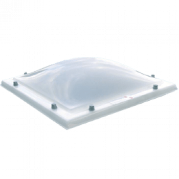 Lichtkoepel dubbelwandig opaal 130x280
