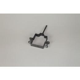 Gegalvaniseerde scharnierbeugel vierkant 100x100mm met pen