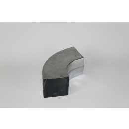 Bocht zink vierkant 100x100mm 72 graden