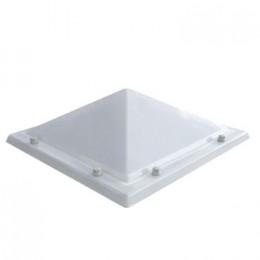 Piramide lichtkoepel acrylaat helder enkelwandig