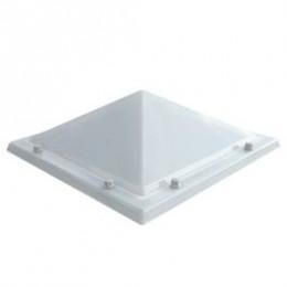 Piramide lichtkoepel polycarbonaat opaal enkelwandig