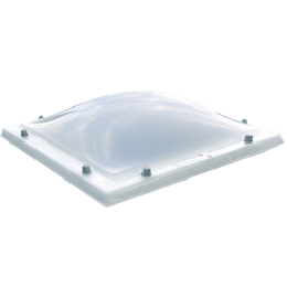 Lichtkoepel polycarbonaat opaal driewandig