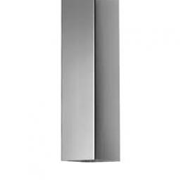 Zinken regenpijp vierkant 100x100 mm, lengte 3mtr