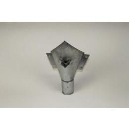 Vergaarbak zink peperzak voor rond 80 mm