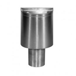 Vergaarbak zink mini voor rond 100mm