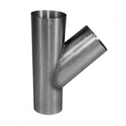 T-stuk zink 100x100mm 45 graden