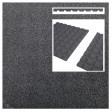 Rubberen tegels grijs (50x50x3 cm)