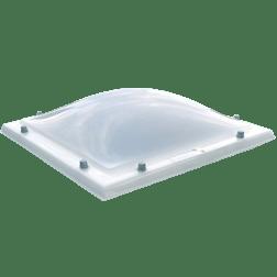 Lichtkoepel polycarbonaat opaal enkelwandig