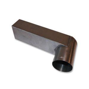 stadsuitloop zink doorgang 60x80mm rond 80mm zijde
